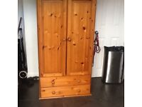 Approx 5ft high X 2ft wide pine wardrobe £20 can deliver