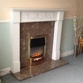Fire Surround including marble and Dimplex Electric Fire