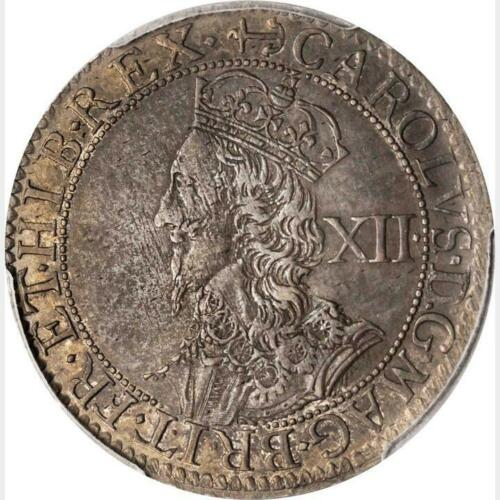 1638 - 1639 Great Britain 1 Shilling, PCGS AU 53, S-2859, KM 186, Well Centered