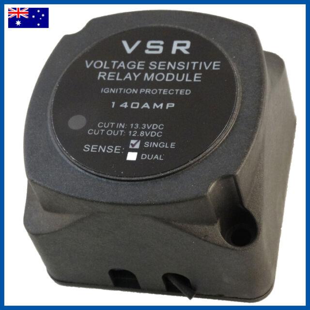 VOLTAGE SENSITIVE RELAY 12V VSR 140A DUAL BATTERY