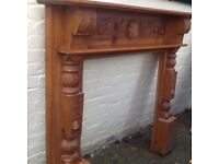 Absolutely gorgeous stained pine fire surround