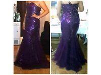 Purple sequence formal dress