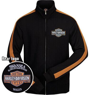 Harley Davidson Mens Logo Accent Zip Jacket Swansea Wales Birthday Gift