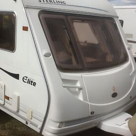 Sterling eccels elite trecker twin axle caravan