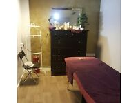 ** massage and beauty treatments **