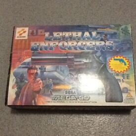 Mega CD Lethal Enforcers disk, gun & manual in original box £45
