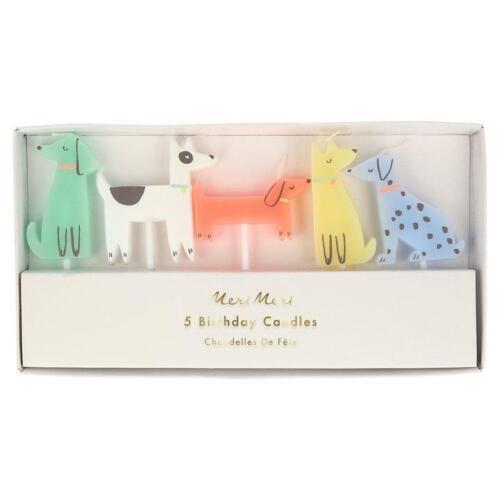 Meri Meri Cute Dog Cake Candles Decorations Birthday Topper Party Animal