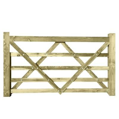 7ft x 4ft Larch Timber Diamond Brace Wooden Field Entrance Farm Garden Gate