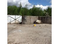 Large yard area / storage containers / work shop for rent