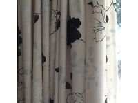 Wide luxury lined curtains