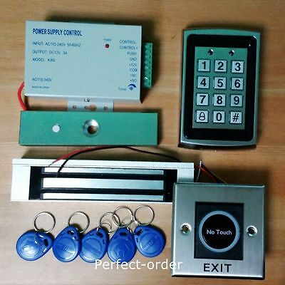 TOP Metal RFID Password Door Access Control System+Magnetic Lock+IR Exit Button