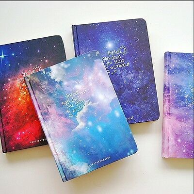 """""""Stars Come"""" 1pc Journal Diary Hard Cover Lined Papers Study Notebook Notepad"""