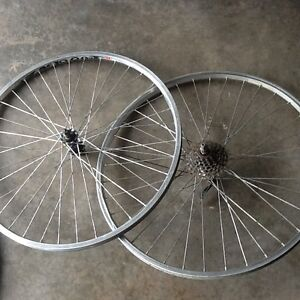"Set of 26"" set of mountain bike wheels"