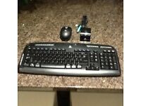 Cordless keyboard and mouse