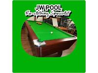 Pool Table Re-clothing • Repairs • Servicing • Spares