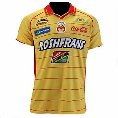 Team Morelia Mens Yellow Official Soccer Jersey Atletica Size XL 2011 Home image