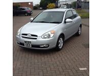 HYUNDAI ACCENT 1.4 ATLANTIC (07) in SILVER, VERY LOW MILES