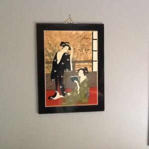 Japanese lacquer picture frame