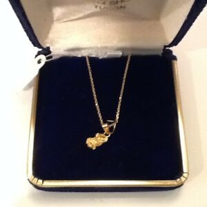 Yukon Gold Nugget Necklace