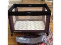 Mothercare Travel Cot with Mothercare Travel Cot Mattress and Carry Bag included. As new.