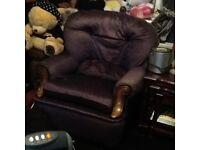 Comfy velour armchair