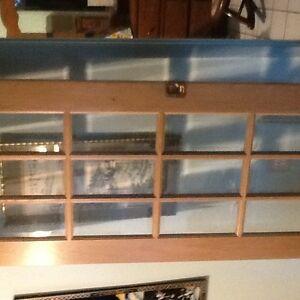 Solid Oak sliding door 80x30 beveled glass 40 dollars like new