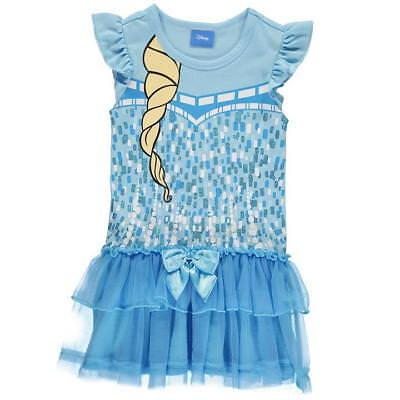 Disney Frozen Die Eiskönigin Elsa blau Glitzer Tüll 110/116 (Disney Frozen Königin Elsa Kostüm)