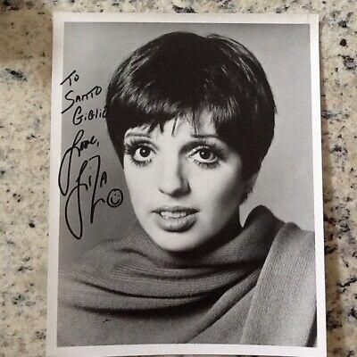 Liza Minnelli SIGNED 8x10 Photo Actress Singer Dancer Cabaret Judy Garland  Liza Minnelli Signed