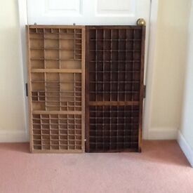 2 Printers Trays,approx 82cm x 38cm,in good condition (dip cleaned and oiled).