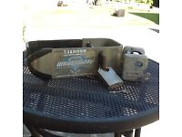 Caravan or trailer diamond Wheelmate wheel lock and Winterhoff robs top WS3000 hitch lock