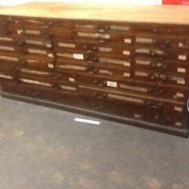 Plan chest vintage