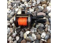 Daiwa millionaire multiplier reel beach sea salt water fishing not carp course fishing set up
