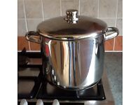 Horwood 8 litre stainless steel stock pot with lid