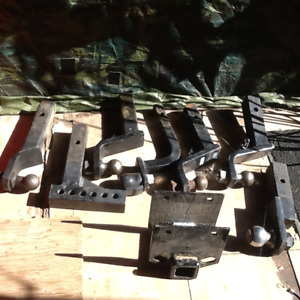 """Tow bars and 2"""" rear trailer bumper receiver"""
