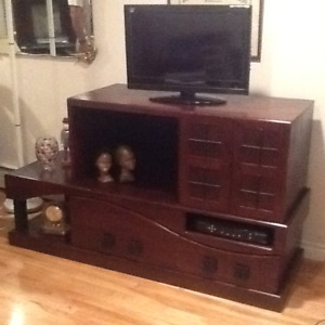Solid Oak Cabinet for TV Casette if interested call 388-9503
