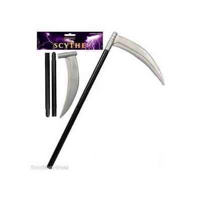 GRIM REAPER SCYTHE 110CM HORROR HALLOWEEN WEAPON FANCY - Grim Reaper Weapon