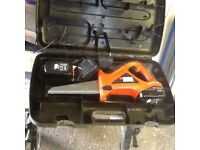 Black and Decker cordless 14.4v reciprocating saw