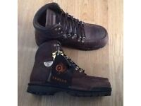 Mens new steel cap boots