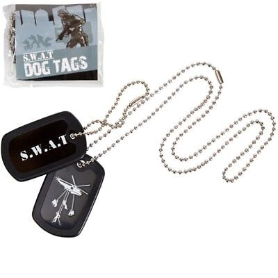 KIDS S.W.A.T DOG TAGS ARMY POLICE STYLE ID TAG NECKLACE GIRLS BOYS FANCY DRESS - Swat Dog Costume