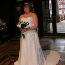 While wedding dress
