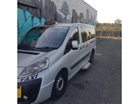 Silver Peugeot E7 Taxi 11 month Salford Hackney plate ready for work .