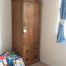 Next nursery furniture 3 piece (cot bed, changing unit/drawers & wardrobe)