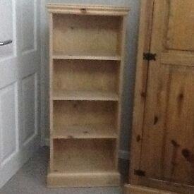 Pine bookcase / book shelf unit
