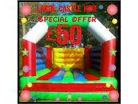 Bouncy castle hire special offer £50