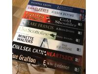 Books.Crime fiction, thrillers.Brand new set of novels. Ann Cleeves,Minette Walters etc, £5 for all.