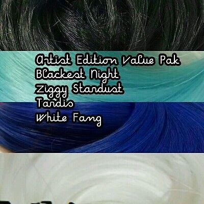 Black White Blues 4oz 4 Color Value Pak Nylon Doll Hair Hanks Custom Rerooting