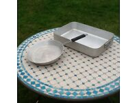 Large baking tray and pan
