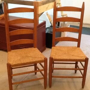 Two Ladder Back Chairs - Very Good Condition