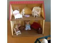 Sylvanian Families House with Furniture & Figures