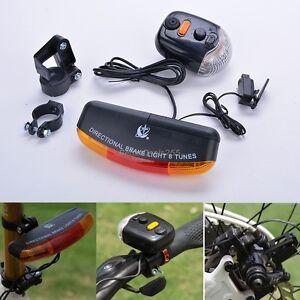 Bike Bicycle Cycling LED Brake Light Rear Tail Signal Horn Bell Turn Indicator